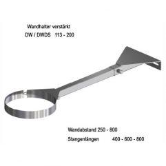 Beckmann Schornstein Wandhalter aus Edelstahl 600 - 800 mm