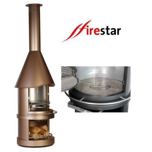 firestar Classic Aztekenofen Gartenkamin Grill Edelstahl DN 700 - DN 800