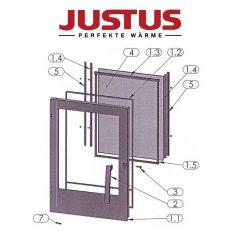 Justus Grönland 4673-6 Türdichtung grau 1m, 9,5mm Pos. 1.2 - 2909400000
