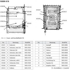 Leda Rubin K18 Ersatzteile