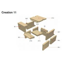 Olsberg Creation 11 Seitenplatte Seitenstein Ersatzteile