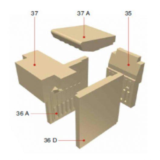 Olsberg Creation 6 Seitenstein rechts Pos. 36 D Ersatzteile - 21/5621-0086