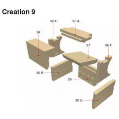 Olsberg Creation 9 Seitenstein rechts oben Pos. 36F - 21/5531-0088