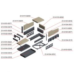 Olsberg Format 11 12 Stehplattenrahmen Ersatzteile