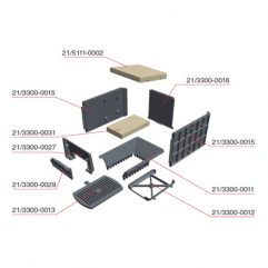 Olsberg Format 6 7 Glasscheibe 166 x 104 x 4 - 74/1021-3301