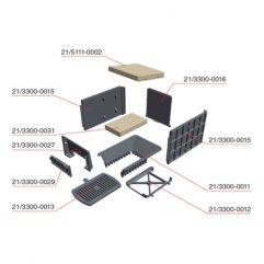 Olsberg Format 6 Schutzplatte seitlich Guss - 21/3300-0015