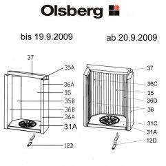 Olsberg Kone Rost Kaminrost Ersatzteile Pos. 31C - 23/4081.1202