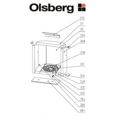 Olsberg Pago Compact Bodenstein Pos. 33A - 23/3381.1256