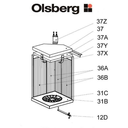Olsberg Pantoja Glasscheibe, Glas - 23/5651.2000