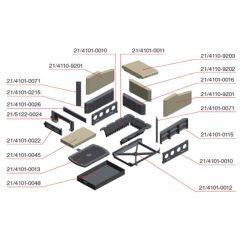 Olsberg Format 9 Scheibendichtung Rahmen - 21/3012-0038
