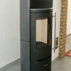Olsberg Telica Naturstein / Stahl / Keramik coffe bone / Kamin Abverkauf