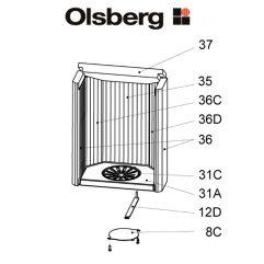 Olsberg Tolima Aqua Compact Rostlager Pos. 31A - 23/4081.1201
