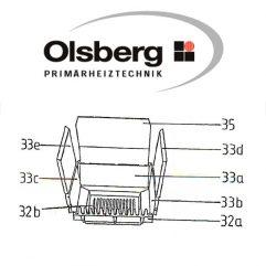 Olsberg HK8 / Vario 24 -11/118 -11/119 Feuerschutzplatte Pos. 33a - 19/1480.1251