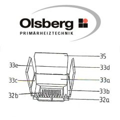 Olsberg HK8 / Vario 24 - 11/118 - 11/119 Stehrost / Rostlager Pos. 32a - 11/4080.1206