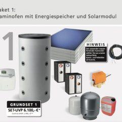 Oranier Komplettpaket 1 Solar Paket Grundset ohne wasserführenden Kaminofen