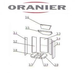 Oranier Arktis 4 Serie 1 Rückwand, Rückwandstein Pos. 3.3 - 2901302000