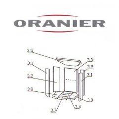 Oranier Arktis 4 Serie 1 Schamottstein Schamott Schamotte Schamotteplatte Ersatzteile Pos. 3.1 - 2901300000