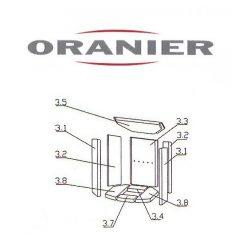 Oranier Arktis 4 Serie 1 Schamottstein Pos. 3.5 - 2901304000