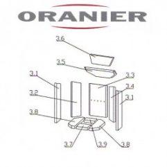 Oranier Kiruna 4 Serie 1 Bodenstein, Bodenplatte Pos 3.8 - 2901389000