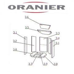 Oranier Kiruna 4 Serie 1 Umlenkung, Umlenkstein, Umlenkplatte Vermeculite Ersatzteile Pos 3.5 - 2901386000 Maße: 352 x 147 x 25 mm