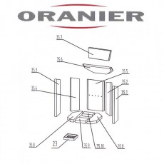 Oranier Kiruna 4 Serie 2 Glasscheibe - 2904335000