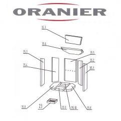 Oranier Kiruna 4 Serie 2 Rückwandstein, Rückwand 35.5 - 2904395000