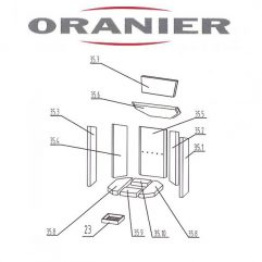 Oranier Kiruna 4 Serie 2 Umlenkung, Umlenkstein oben 35.7 - 2904397000