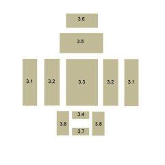 Oranier Kiruna 4 Serie 1 Bodenstein, Bodenplatte Vermeculite, Schamottstein, Schamottplatte hinten Ersatzteile Pos 3.9 - 2901303000
