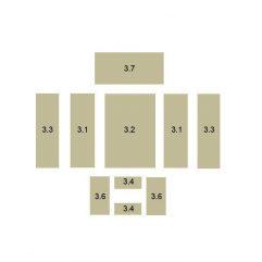 Oranier Kiruna 8 Serie 1 Schamottesatz komplett - 2898959000