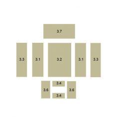 Oranier Kiruna 8 Serie 3 Schamottesatz komplett - 2901783000
