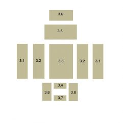 Oranier Polar 4 Serie 1 Schamottstein Pos. 3.2 Links - 2905395000