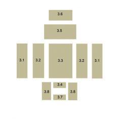 Oranier Polar 4 Serie 1 Schamottstein Pos. 3.5 - 2901304000