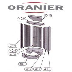 Oranier Polar 4 Serie 3 Kaminscheibe, Glasscheibe - 2910381000