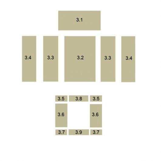 Oranier Polar 8 Bodenstein Serie 1 Schamott Schamottstein Schamottplatte Vermiculiteplatte Vermiculite Platte Ersatzteile Pos. 3.9 - 2897206000