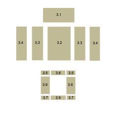 Oranier Polar 8 Serie 1 Schamottstein, Schamott, Schamottplatte, Vermiculiteplatte, Vermiculite Platte Ersatzteile Pos. 3.4 - 5567773000