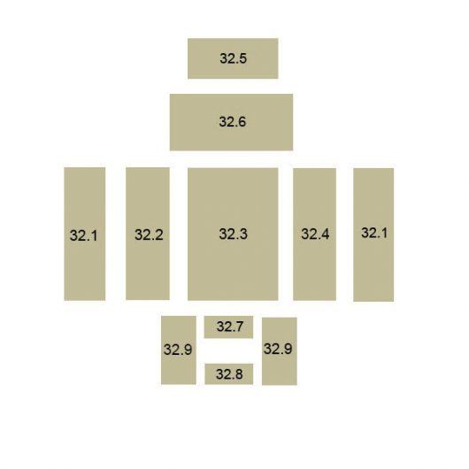 Oranier Polar 8 Serie 3, Kaskade 8 Schamottstein Pos. 32.4 - 2906638000