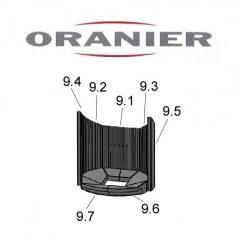 Oranier Polar Aqua 5 - 7614 Schamottesatz komplett - 2916483000