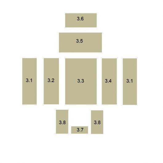Oranier Polar 6 Eck Schamottstein Pos. 3.4 - 2899371000