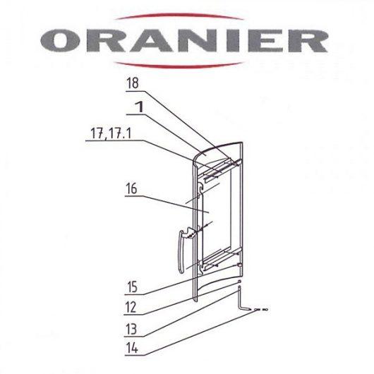 Oranier Pori 7 4671-7 Glasscheibe - 2908917000