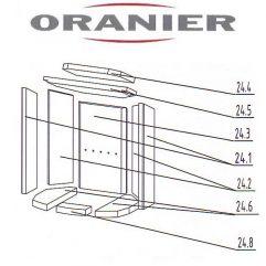 Oranier Pori 7 4671 Arktis 6 Arktis 7 Schamottsteine Ausmauerung Schamotte komplett Ersatzteile Pos. 24 - 2906558000