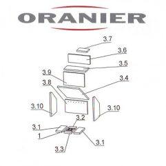 Oranier Skagen 4651-6 Rückwand, Rückwandplatte Pos 3.8 - 2910151000
