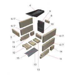 Schmid SH 11 G Bodensteine komplett, Pos. 10-14, 67/2015-1250