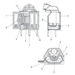 Wodtke HK 01 Türdichtung Set Kamindichtung Ofendichtung Runddichtung 10 mm 3 m - 000891