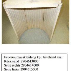 Justus Faro Plus 4693 Rückwand Ersatzteile