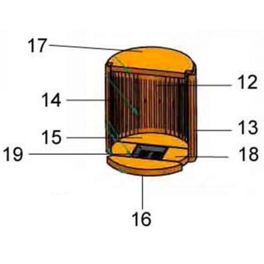 Justus Oranier Faro Plus 4693 Bodenstein vorne Pos. 16 - 2904604000