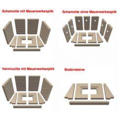 Schmid Lina 6745 s/h Rückwand / Seitenstein / Bodensteine / Mauerwerksoptik