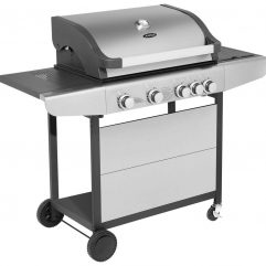 Justus Ares 4 S Grill Gasgrill Silber Schwarz
