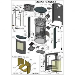 Oranier Island AQUA Schamotte Serie 2 Schamottesatz komplett Ersatzteile Pos. 9 - 2902917000