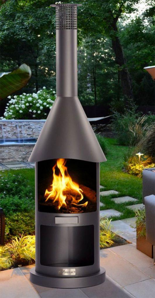 firestar New Mexico Aztekenofen Gartenkamin Gartengrill braunmetallic
