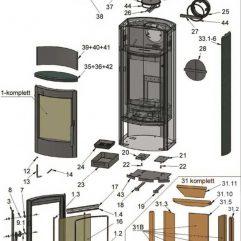 Oranier Pori 5 4671 Serie 3 Schamottesteine komplett Pos. 31 - 2910388000